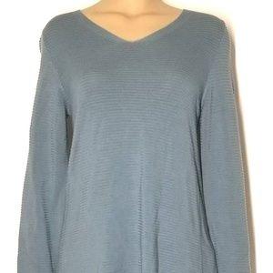Eileen Fisher Tencel Vneck Sweater XS B34 SP B38